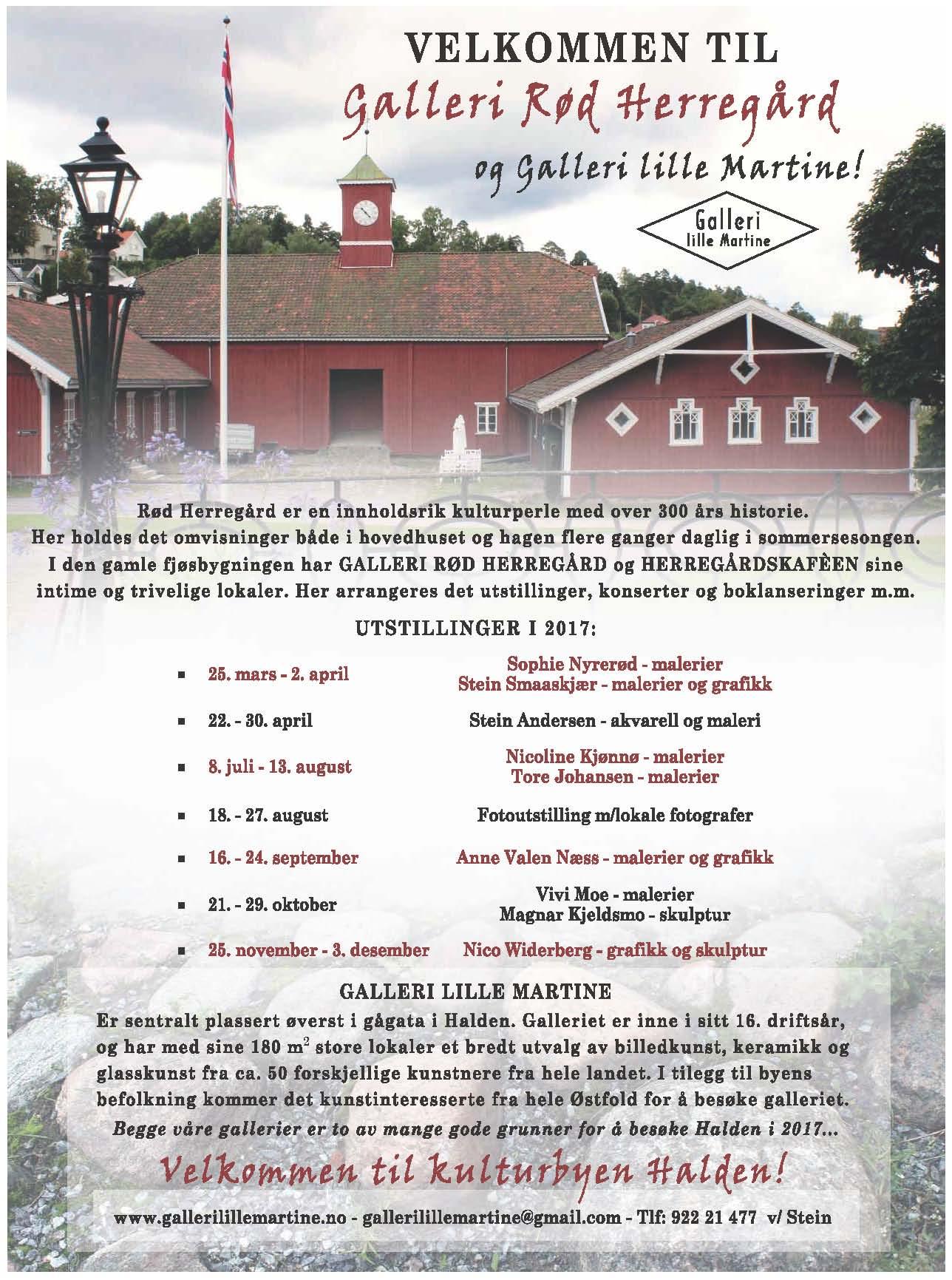 Velkommen til Galleri Rød Herregård og Galleri Lille Martine